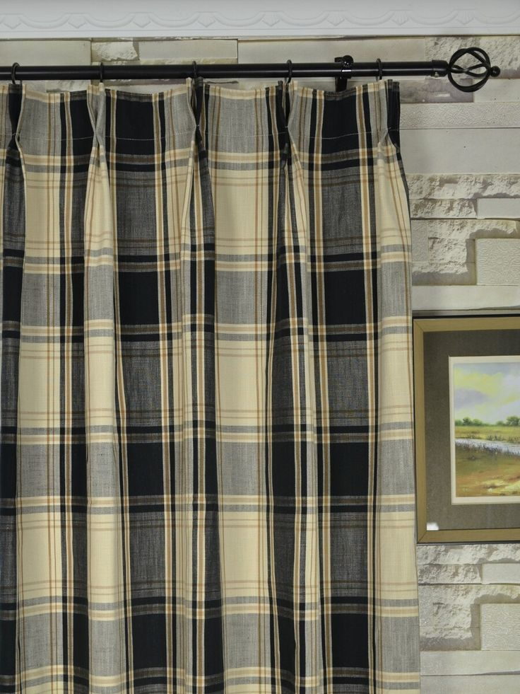 Timeless Look With Plaid Curtains