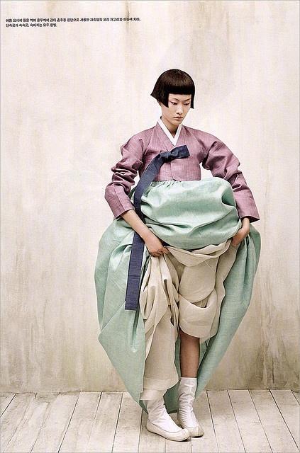 Hanbok, Korean traditional dress Vogue Korea photography by kim kyung-soo