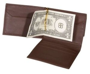 A well styled money clip wallet that's loaded with extra capacity. If you're looking for a normal wallet with the added security of a banknote clip this could be the one for you. #Wallet #Money Clip