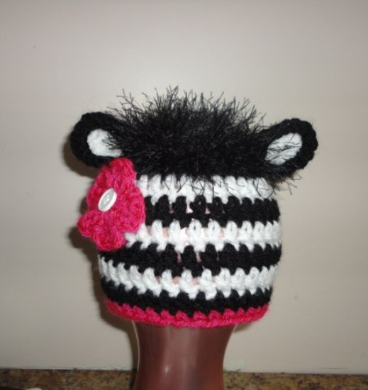 Zebra hat Crochet: Hats Pinterest