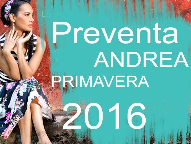 Preventa Andrea catalogos de primavera 2016