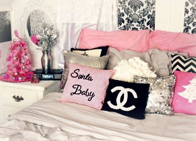 My Pink Christmas Themed Room Decor Girly Glam And Fabulous By Belinda Selene