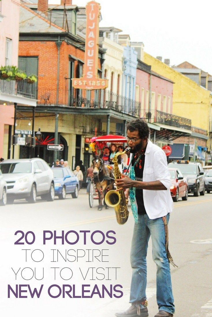 New Orleans is a city everyone should visit once! History, Great food, amazing music, and major personality is just the beginning of what New Orleans has to offer! Here are 20 amazing photos to inspire you to visit New Orleans, Louisiana!