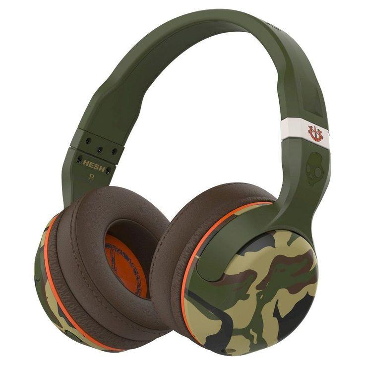 Skullcandy Hesh 2.0 Bluetooth Headphone with Mic - Camo/Olive (Green/Green) (S6HBGY-367)
