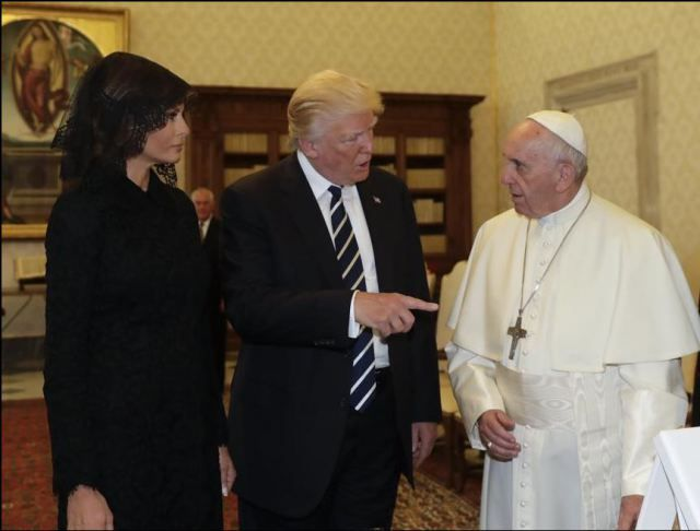 "President Donald Trump met with Pope Francis today at the Vatican and gave the pontiff a sculpture made by Stuart artist Geoffrey Smith. The White House said the sculpture is called ""Rising..."