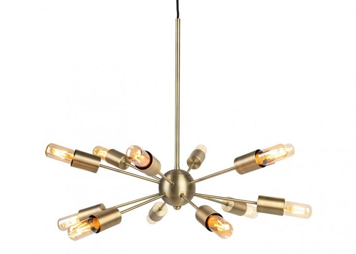 Brass Mega Junction 12 Bulb With The Lurra Bulb 3w E27 Led Chandelier Arm Chandelier Ceiling Rose