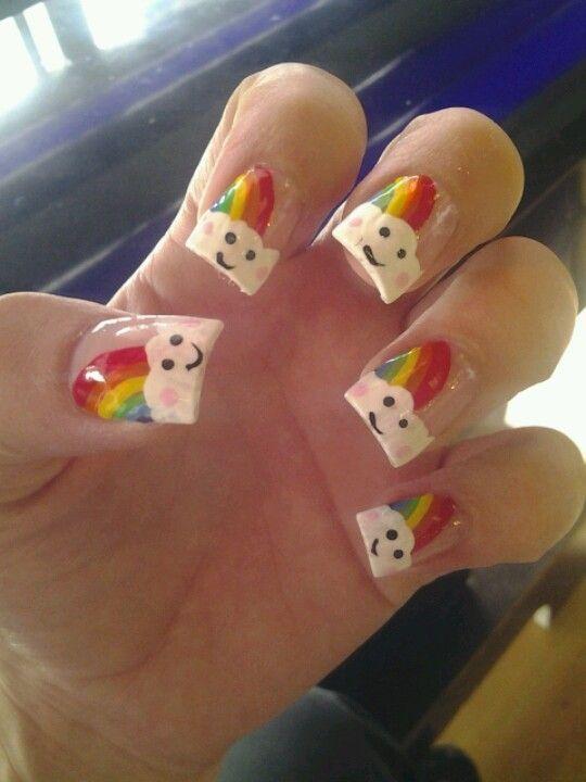 #nail #nails #nailart #rainbow #regenbogen #fingernagel #naildesign  #nageldesign #nagellack #nailpolish