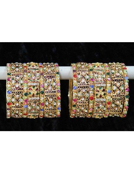 Buy Prominent Sangeet Bangles Online. http://www.bharatplaza.com/jewellery/bangles.html