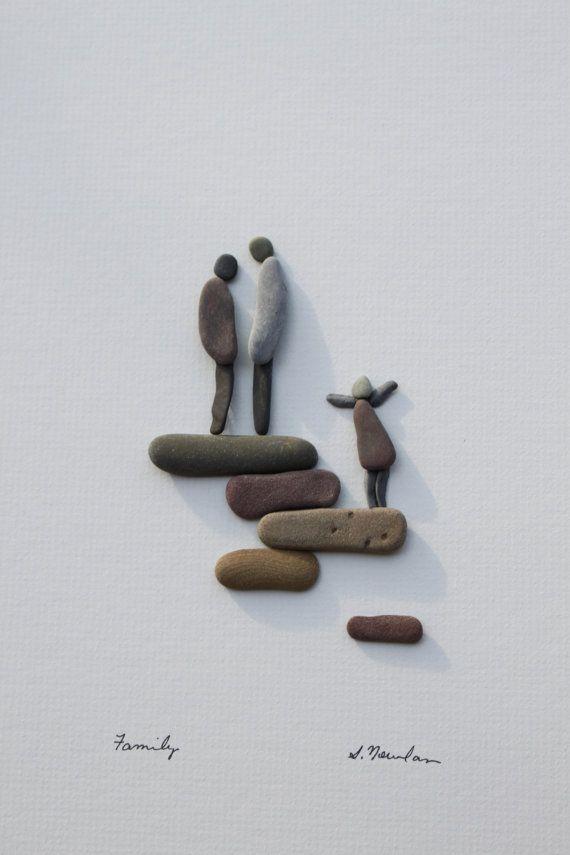 Kunst des NS durch Sharon Nowlan Kiesel von PebbleArt auf Etsy
