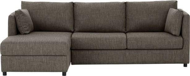 Milner Left Corner Storage Sofa Bed with Foam Mattress, Chalk Grey from Made.com. With its slim arms and legs our Milner corner sofa has a timeless ..
