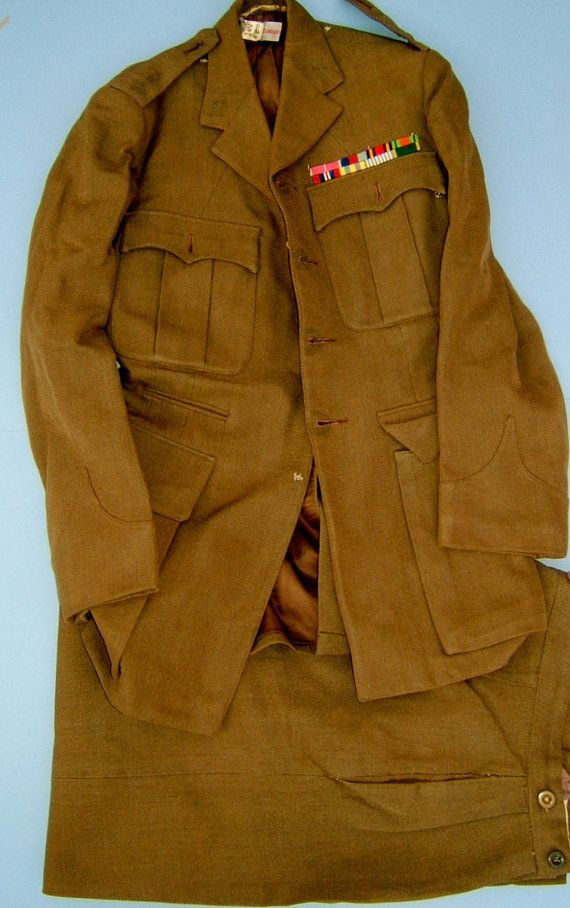 WWII British Army Uniform Lt Col G.J. Athill of by BiminiCricket, $275.00