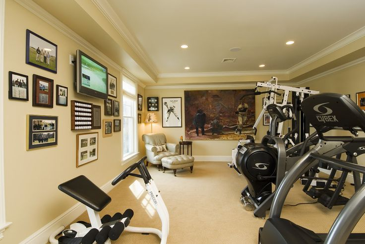 Exercise Room - traditional - home gym - bridgeport - Sara Hopkins