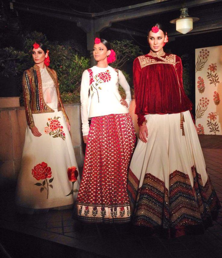 Sneak peek at lehengas by Rohit Bal - for Wills India Fashion Week Spring Summer show