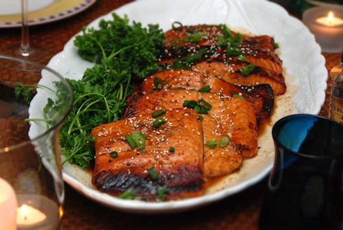 While perusing the New York Times much too long ago to admit, I came upon a great Christopher Iodone recipe for grilled salmon. It remains my most-loved and therefore most over-used kitchen staple to this day as it's my go-to main course whenever I need a knock-your-socks-off dinner but have zero time to work or think, a situation I find myself in all too frequently.
