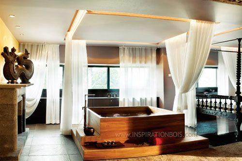 17 best ideas about baignoire en bois on pinterest baignoire bois baignoir - Baignoire spa jacuzzi ...