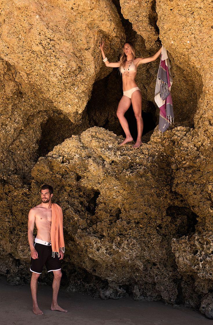 FUTAH BEACH TOWELS | ERICEIRA ORANGE & MIRAMAR VIOLET | beach towel | summer essentials