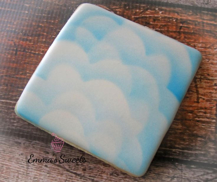 How to Airbrush Clouds on a Cookie - by Emma's Sweets