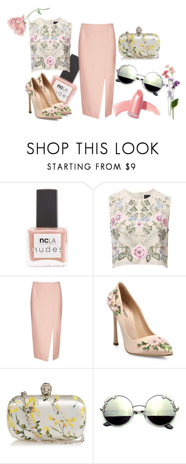 """Floral"" by gabriela-rosetti on Polyvore featuring moda, ncLA, Needle & Thread, C/MEO COLLECTIVE, Giambattista Valli, Alexander McQueen y Elizabeth Arden"