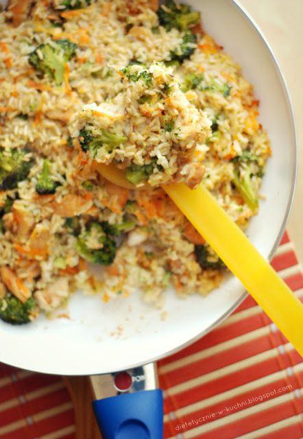Moje Dietetyczne Fanaberie: Zapiekanka ryżowa z kurczakiem curry