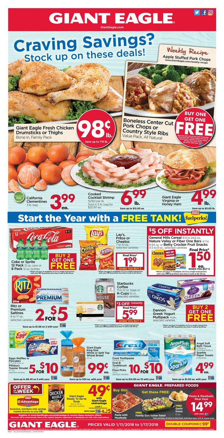 Giant Eagle Weekly Ad Jan 11-17, 2018 http://www.weeklyadspecials.com/giant-eagle-weekly-ad/