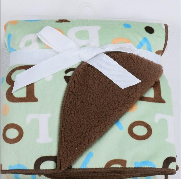 Newborn Plush Blanket Double Layers Thick Winter Baby Blankets