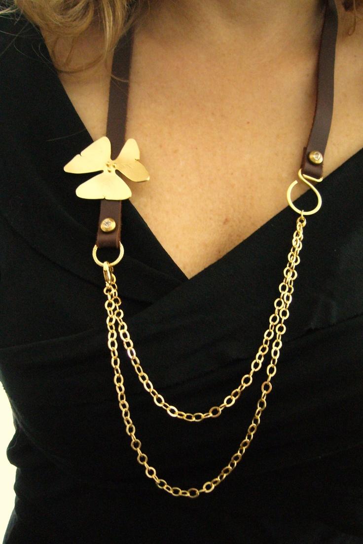 Leather Jewelry 4 options Wrap Bracelet / belt/ hair band/ necklace- Flower Jewelry. $89.00, via Etsy.