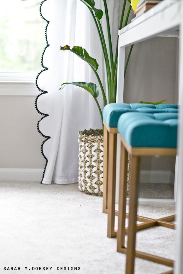 Spring Home Tour | DIY Scalloped Draperies