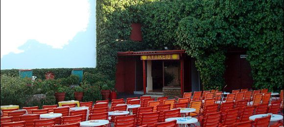 Agistri's open-air cinema in Skala