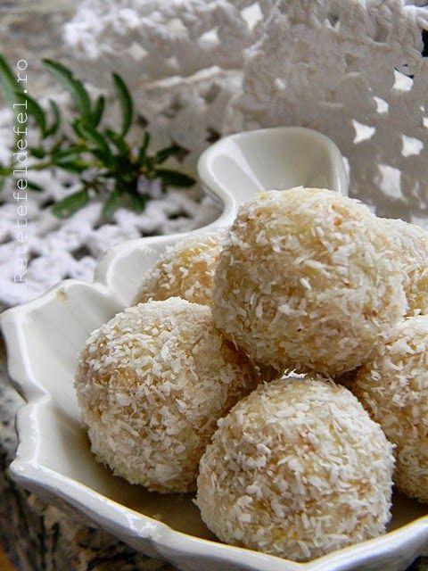 Bomboane de cocos ,migdale si crema de branza,o combinatie simpla si extrem de …