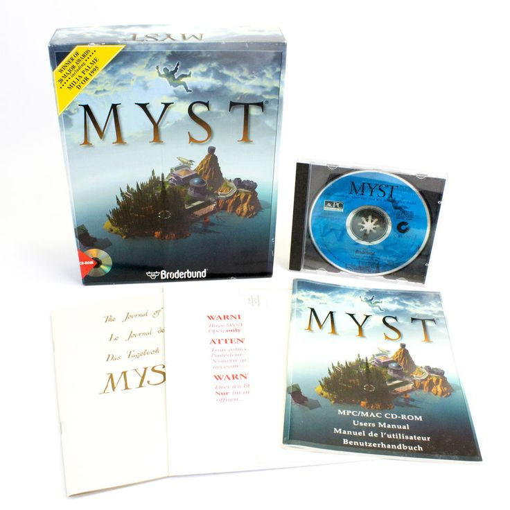 Myst for Windows 98 In Big Box by Cyan, 1998, Adventure, CIB, VGC, VTG