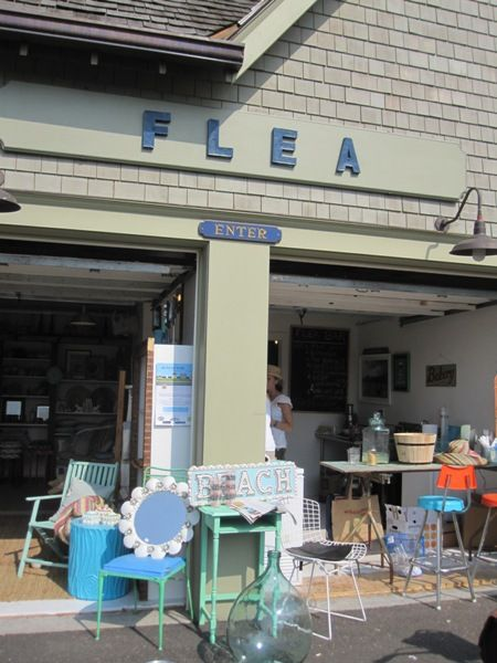 FLEA..Rowayton Connecticut. I can shop the surfer/beach house items for sale, and have a cupcake at their in-store restaurant. I'm seeing more small store/in-house cafe combos lately.