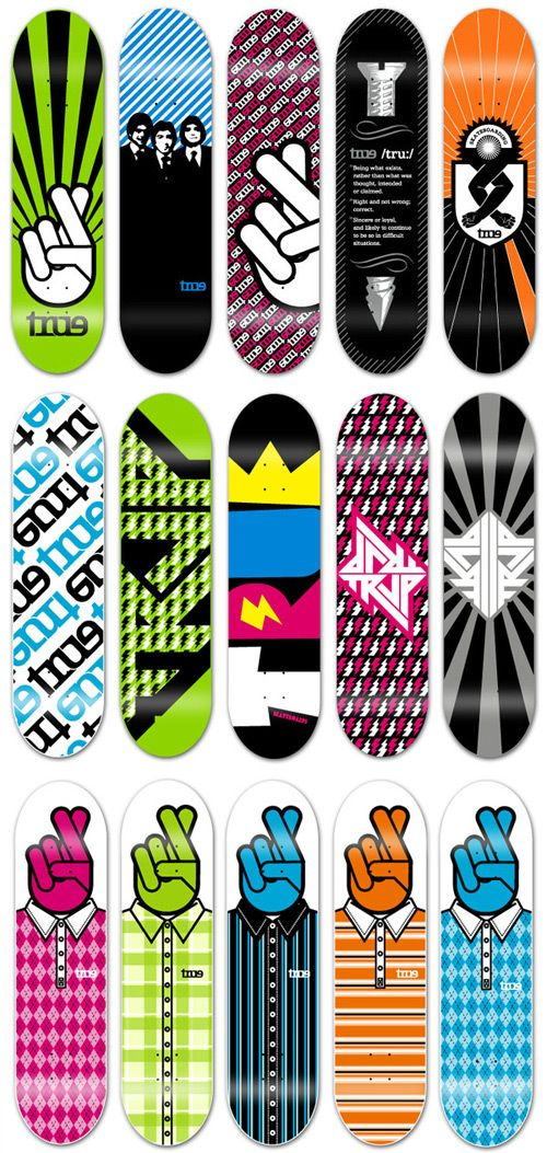 skateboard designs fingers crossed i like the different variations available here