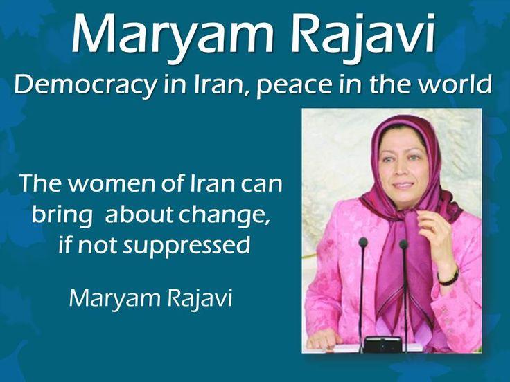 Maryam Rajavi: Women of Iran can bring about change, if not suppressed.