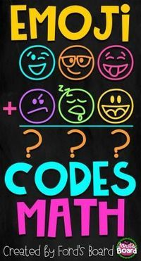 Emoji Codes Math will make practicing math facts lots of fun! Each set contains math problems that are written in a secret emoji code. Students must use the key at the top of the page to decode each problem.