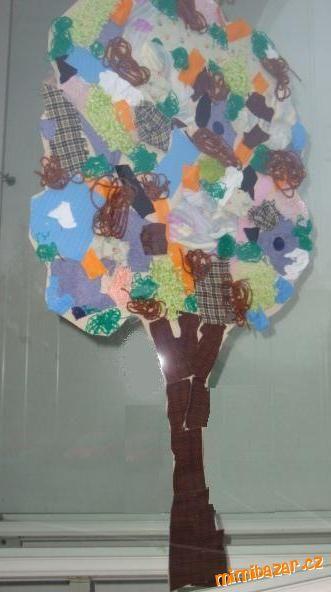 Podzimní strom tvoření s dětmi na podzimní deštivé dny