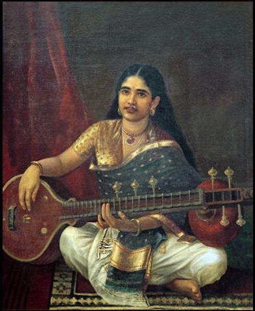 Woman with Veena