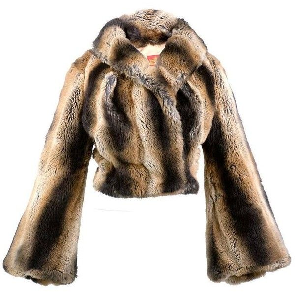 Preowned Vivienne Westwood 90s Faux Fur Chubbie Jacket (12.460 RON) ❤ liked on Polyvore featuring outerwear, jackets, coats, brown, vivienne westwood, fake fur jacket, brown faux fur jacket, ombre jacket and faux fur jacket