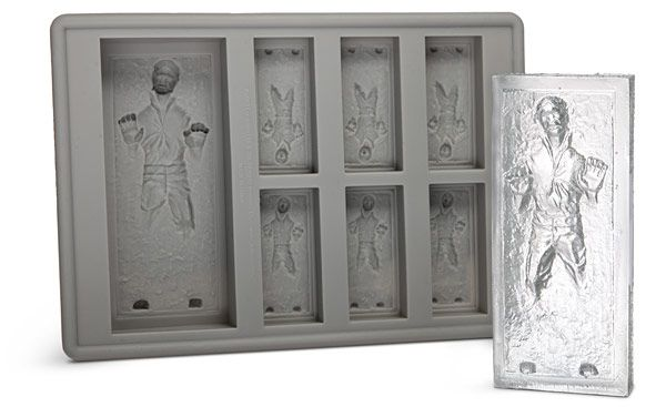 Something else to add to my letter to Santa: Han Solo in Carbonite Ice Cube Tray