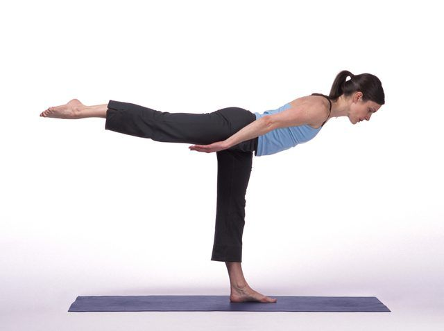 Airplane pose can irritate the foot with the neuroma.