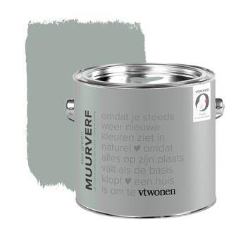 vtwonen krijt mat muurverf sea green 2,5 l | Muurverf kleur | Muurverf | Verf & verfbenodigdheden | KARWEI
