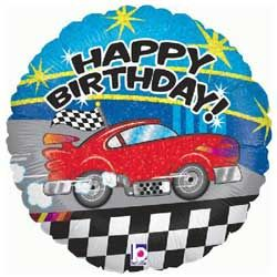 Birthday Car Foil Balloon with National UK Delivery only £9.95 Boxed