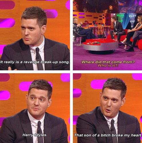 Lol. <---- OMFG MICHAEL BUBLE MENTIONNING ONE DIRECTION AGAIN OMG OMG IM SUH A FANHIRL THIS IS AN OVERDOSE I SWEAR IM JOT OKAY BYE