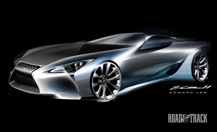 Photos:+Lexus+LF-LC+Concept+-+Sketches - RoadandTrack.com