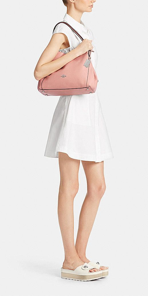 8e861f60a519 Edie shoulder bag 31 in refined pebble leather