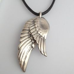 Fingerprint Jewellery Keepsakes by Pure Charm Jewellery. Double layer angel wings with fingerprint impressions. xox
