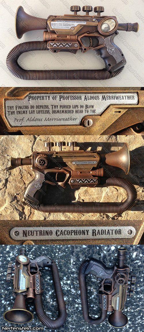 Steampunk trumpet Nerf mod - LandgraveCustoms comp by *GirlyGamerAU on deviantART