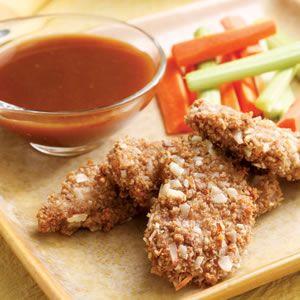 Carne de cerdo con costra de almendra con miel y mostaza Salsa  Calorías: 299  Hidratos de carbono: 30 g  Grasas: 7g  Proteína: 29g