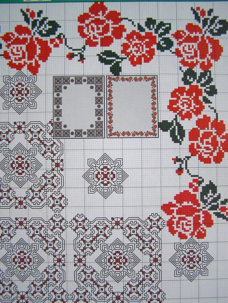 Cross stitch Ukrainian Embroidery Flower Patterns for Tablecloth Pillow Napkin 7 in Crafts, Needlecrafts & Yarn, Cross Stitch & Hardanger, Patterns | eBay