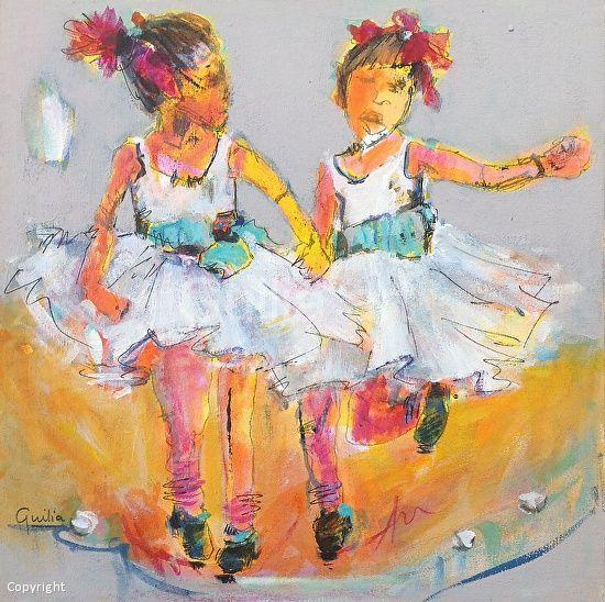 Tap Dancers 2 by Julia Forman Acrylic ~ 400 x 400