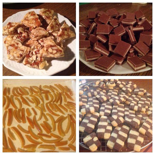 #Christmas baking #Natale #croccante #cremini #arancecandite #biscottiascacchi #homemade #baking